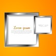 Abstract vector squares with silver frame