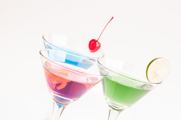 Three Variation Of Martini Cocktails