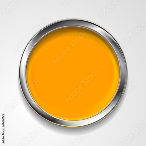 Vector round shape with silver frame
