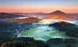 Mountain nature sunset in Czech republic - Saxony