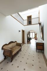 corridor with antique furniture