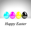 CMYK Easter Eggs - Happy Easter