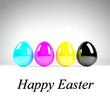 CMYK Easter Eggs - Happy Easter