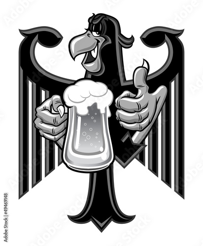 Eagle with beer