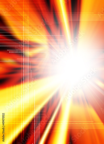 digital flare backdrop