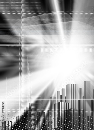 city abstract backdrop