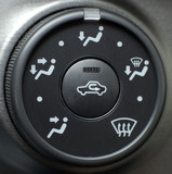 Button located in the car