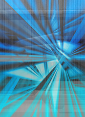 blue digital abstract