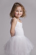 Charming happy babe in ballet tutu