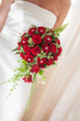 wedding bouquet with bride