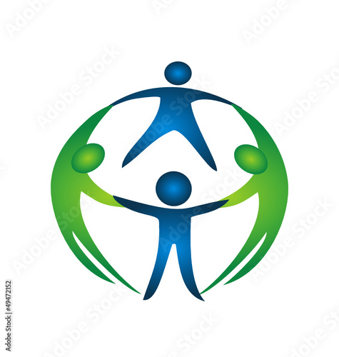 Group of teamwork logo