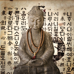 Bouddha vintage fond coréen
