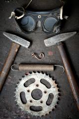 Hammer on the anvil  workshop tool
