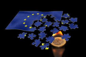 The euro sets fire to the EU cooperation puzzle.