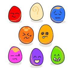 cartoon hand drawing emotion icon