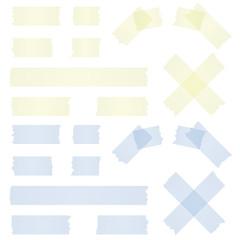 Klebebstreifen gelb und blau