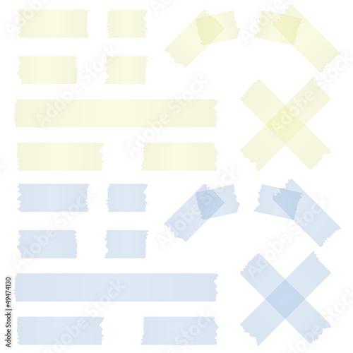 Klebebstreifen gelb und blau - 49474130
