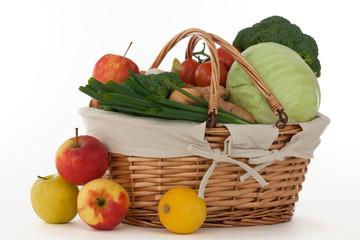Gemüse- und Obstkorb