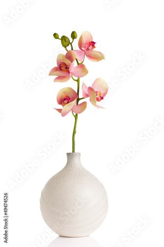 Aluminium Madeliefjes Flower and vase.
