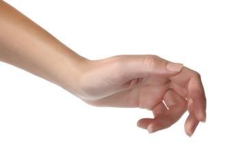 Empty open woman hand