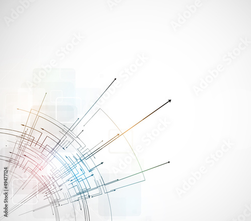 abstract bright circuit computer line technology business backgr