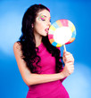 woman with lollipop