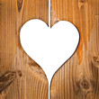 Coeur bois, fond blanc