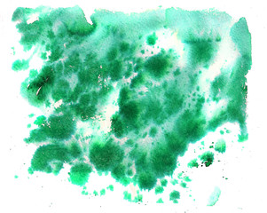 Watercolor dark green background