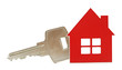 House shaped key chain isolated on white background