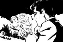 croquis noir et blanc couple homme et femme amoureux