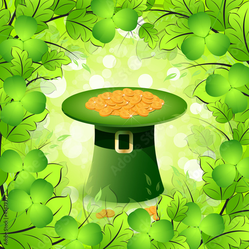 St. Patricks Day Card with  Leprechaun Hat