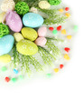 Composition for Easter isolated on white