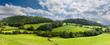 canvas print picture - Panorama of welsh countryside