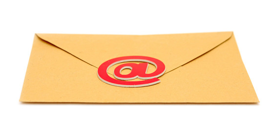 E-mail envelope isolated on white