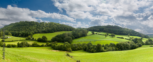 canvas print picture Panorama of welsh countryside