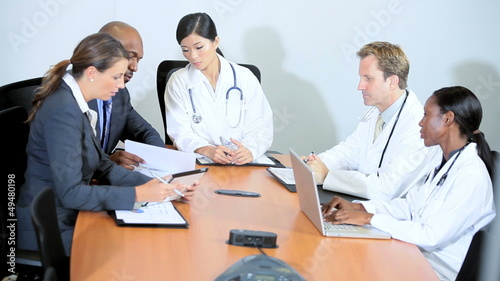 Medical Team Concluding Meeting Pharmaceutical Executives