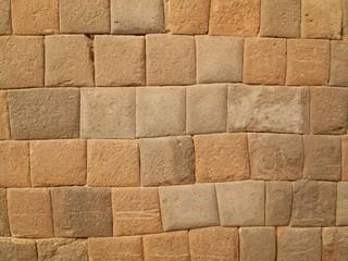 ベルー インカ石畳の壁