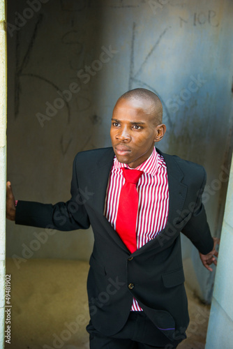 Portrait of african american business man