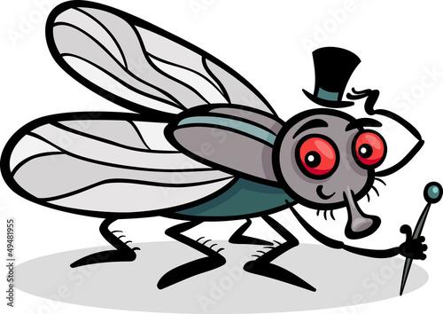 插图昆虫有趣的漫画绘图翅膀自然艺术设计载体飞翔