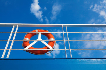 Lifebuoy on a ferry boat