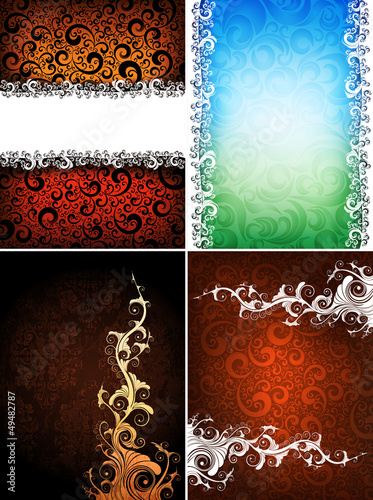 set of creative design backgrounds, eps10 format