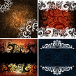 set of abstract ornamented backgrounds, eps10