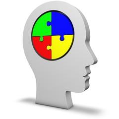 Kopf mit Puzzle
