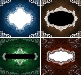 set of vintage style backgrounds, eps8 format
