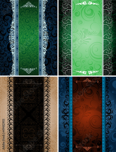 set of ornamented banners, eps8 format vector