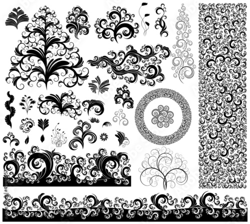 collection of ornamented design elements, eps8 vector