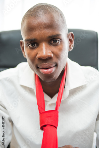 African american man with tie