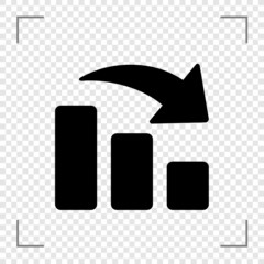 Chart Bar Down Icon
