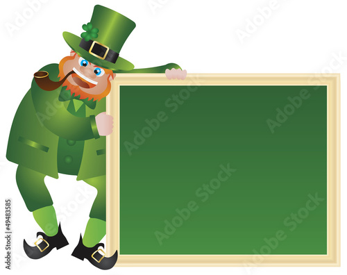 St Patricks Day Leprechaun with Chalkboard