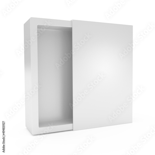 Design of Blank Box isolated on white